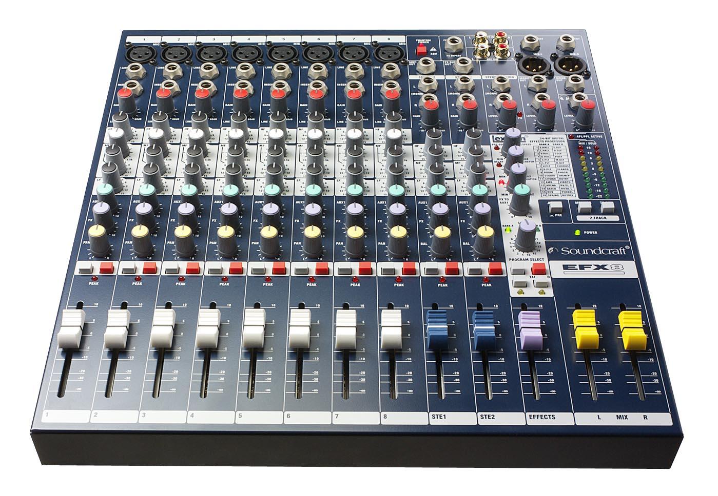 Mixer: Soundcraft EFX8 mixing desk
