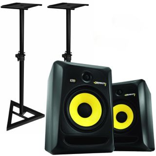 2 x KRK Rockit RP8 G3 Speakers - Indoor Studio Monitors