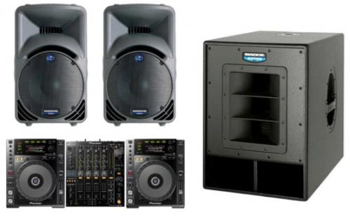 DJ Pack- Mackie SRM450's & Sub with Pioneer 850's