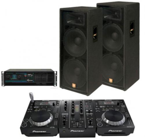 DJ Pack - JBL JRX 125 and Pioneer 350's