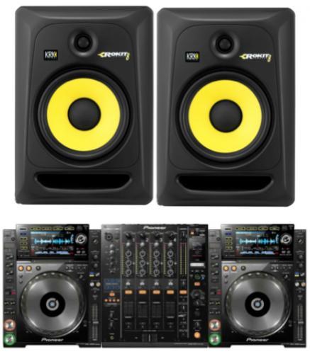 DJ Pack - KRK Rokit CDJ2000 NXS & DJM900 - Indoor Studio Monitor package