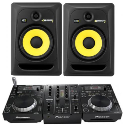 DJ Pack - KRK Rokits & Pioneer 350's - Indoor Studio Monitor package