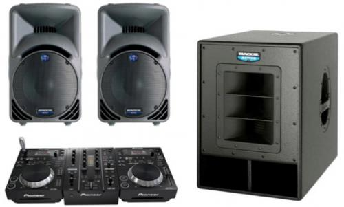 DJ Pack - Mackie 450s & Sub with Pioneer 350's