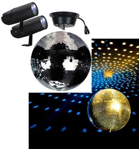 Mirror Ball Motor and pin spots