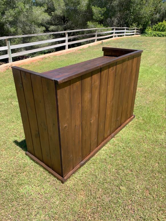Rustic look wooden Dj Booth